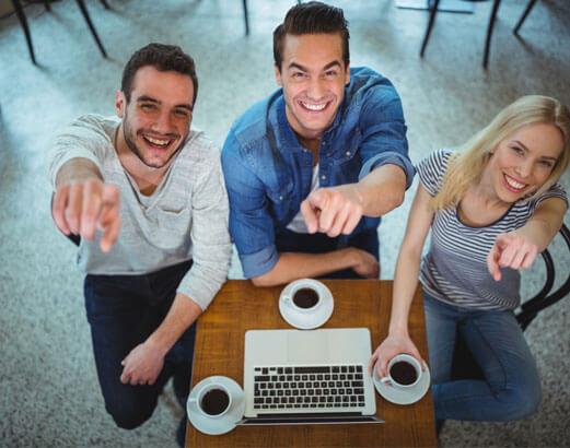 komputer kawa ludzie