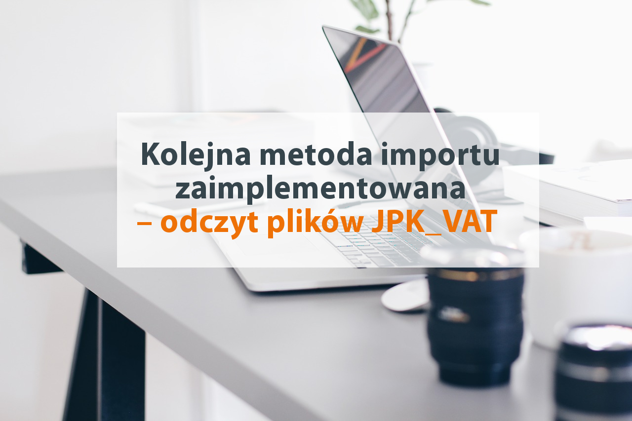 import faktur z JPK